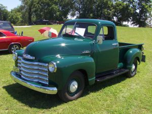 Forest Green Chevy Pickup