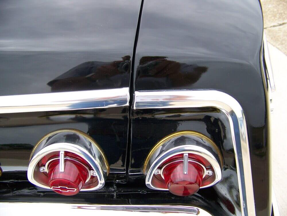 Pre-Purchase Inspection - Close up of chrome and paint at trunk and rear lights