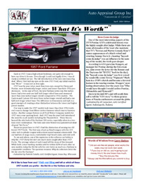 Auto Appraisal Group Newsletter for April 2014