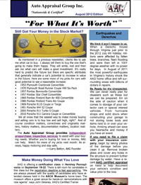 August 2012 Newsletter - Auto Appraisal Group