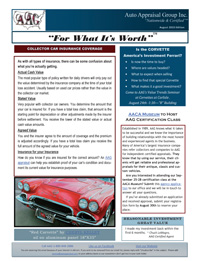 Car Appraiser News from Auto Appraisal Group - August 2013