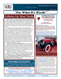 Auto Appraisal Group Newsletter for February 2015