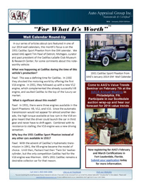 Auto Appraisal Group Newsletter for January 2014