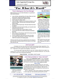 Newsletter - Auto Appraisal Group - May 2012