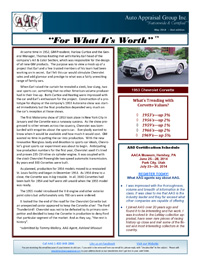 Auto Appraisal Group Newsletter for May 2014