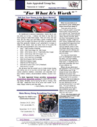 Auto Appraisal Group Newsletter for September 2012